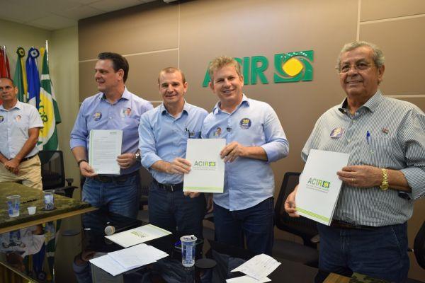 ACIR recebe candidato ao governo do Estado e entrega carta propositiva